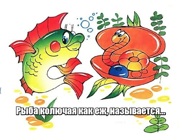 Рыба колючая как еж, называется... Ерш.