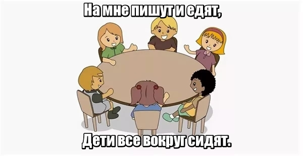 На мне пишут и едят, Дети все вокруг сидят. Стол