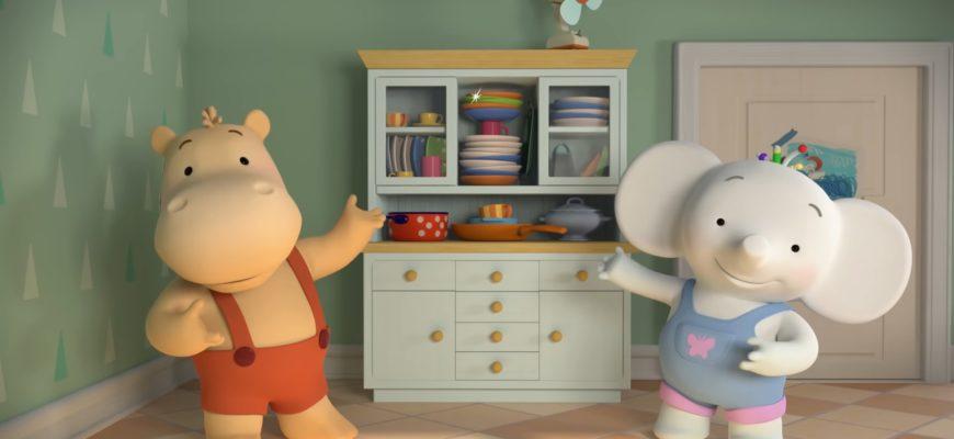 Бегемотик, слоник и посуда. Детские загадки про посуду