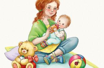 Молодая мама с ребенком. Добрые загадки про мамочку.