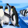 Пингвины на льду. Какие загадки загадать детям про пингвинов.