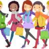 Счастливые девочки идут по покупки. Какие загадки понравятся подросткам.