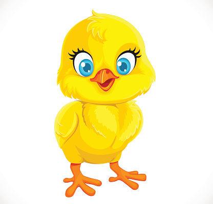 Желтый цыпленок. Детские головоломки про цыпленка.