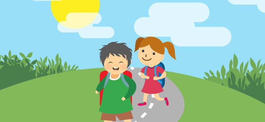 Мальчик и девочка на тропинке. Подборка загадок в стихах для детей