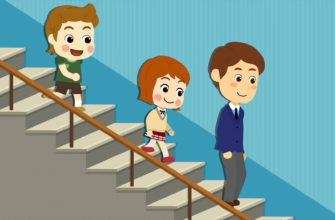 Дети на лестнице. Коллекция загадок про лестницу