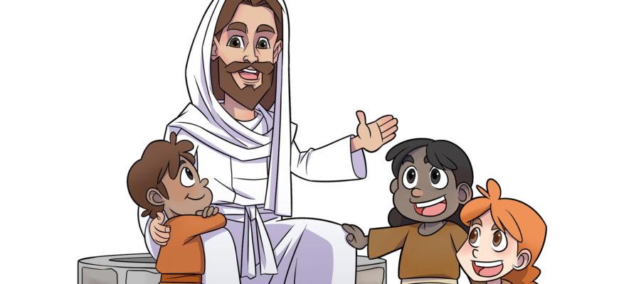 Иисус с детьми. Подборка библейских загадок для детей