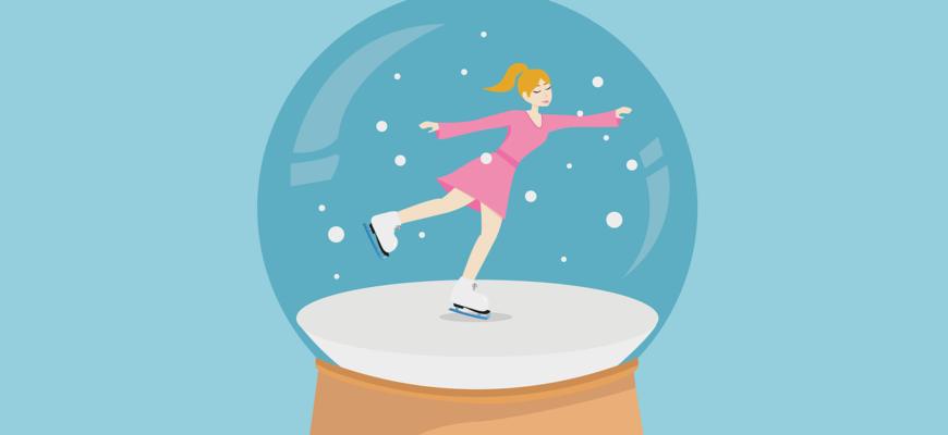 Девушка на коньках. Подборка загадок про коньки