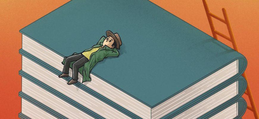 Мальчик на стопке книг. Подборка загадок про литературу