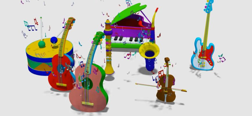 Инструменты и ноты. Подборка музыкальных загадок для детей