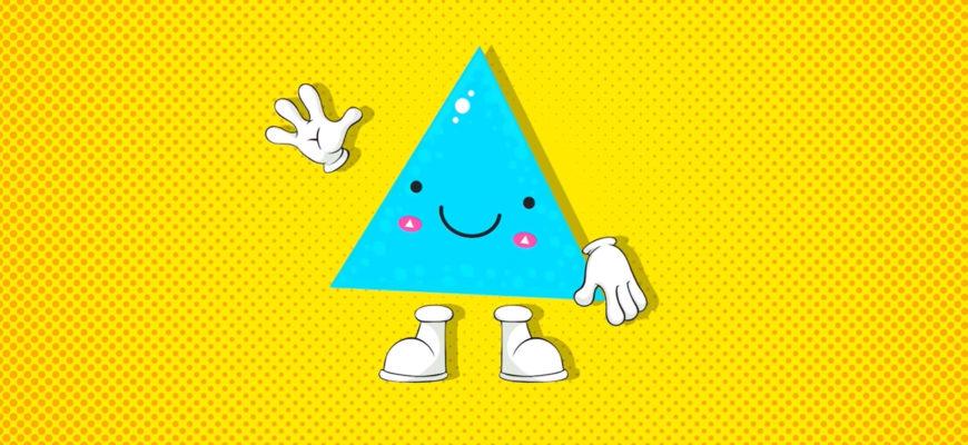 Забавный треугольник. Подборка детских загадок про треугольник
