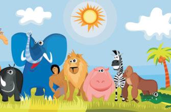Животные на солнышке. Интересные загадки про Африку.
