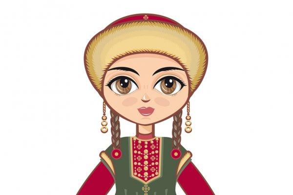 Девушка в наряде. Башкирские загадки с переводом на русский.
