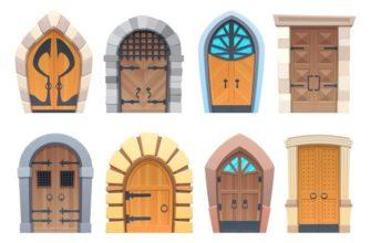 Разные двери. Увлекательные детские головоломки про дверь.