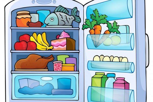 Еда в холодильнике. Детские загадки про разную технику.