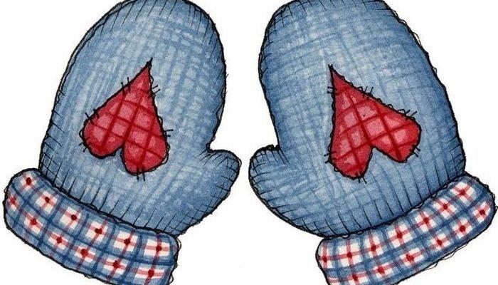Синие варежки. Детские загадки про варежки.