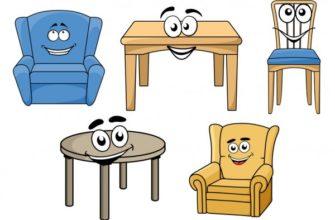 Разная мебель. Как выучить с детьми разную мебель.