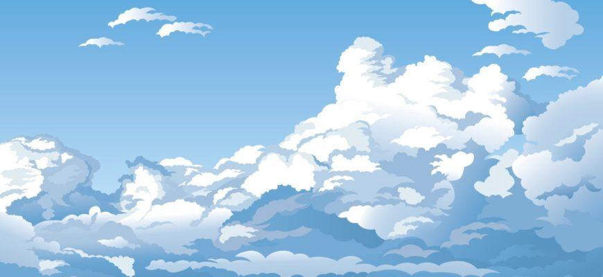 Красивые облака. Детские головоломки про небо.