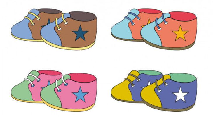 Яркая обувь для детей. Какие задки загадать ребенку.
