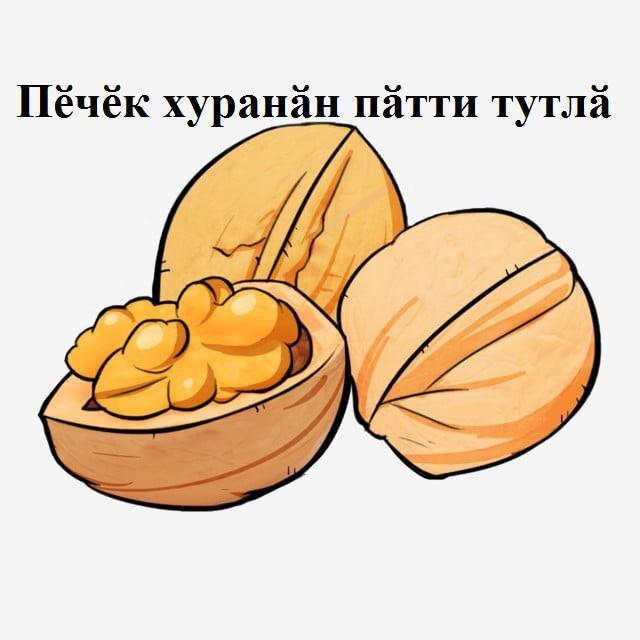 Пӗчӗк хуранӑн пӑтти тутлӑ В маленьком котле каша вкусна МӐЙӐР - Орех.