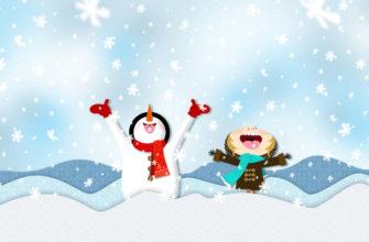 Снежинки падают. Детские загадки про снег.