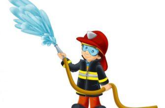 Пожарный тушит. Оригинальные головоломки по пожарной безопасности.