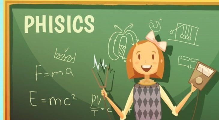 Девочка на уроке физики. Интересные загадки про предметы.