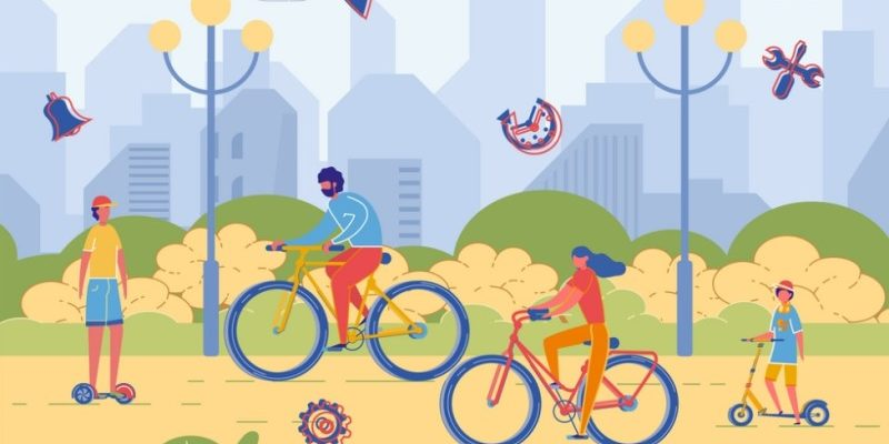 Люди на велосипедах. Головоломки про велосипед.