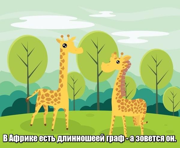 В Африке есть длинношеей граф - А зовется он. Жираф