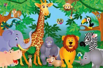 Животные в лесу. Познавательные головоломки на немецком языке с переводом.