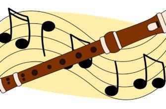 Флейта и ноты. Отгадать загадки про флейту