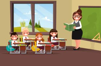 Учительница и ученики. Найти загадки про урок
