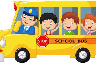 Автобус с детками. Полезные головоломки про водителя.