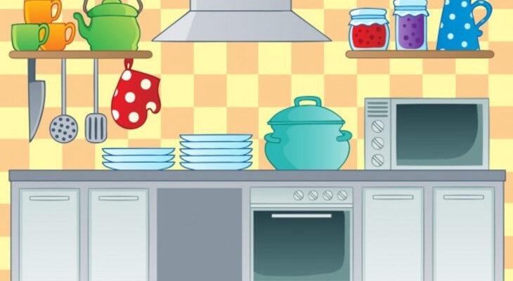 Стопка посуды. Загадки про тарелки для детей.