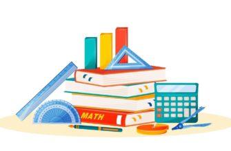 Стопка школьных учебников. Отгадывайте загадки про книги.