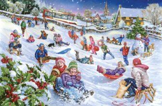 Зимние забавы. Детские загадки про зимние забавы.